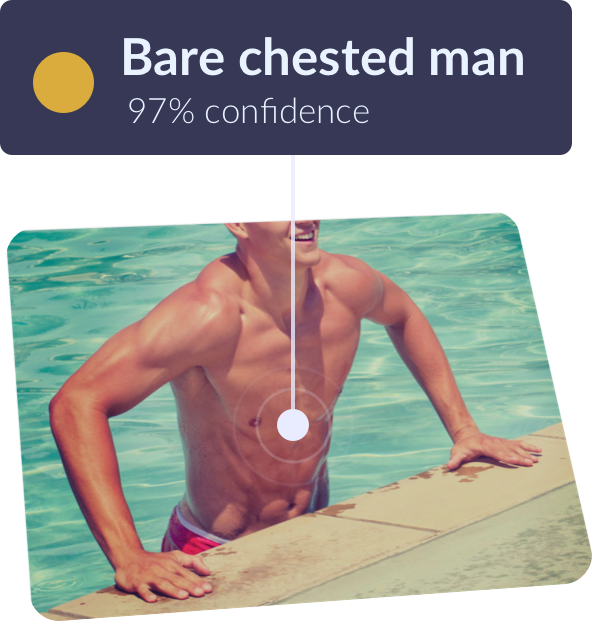 Bare chested man